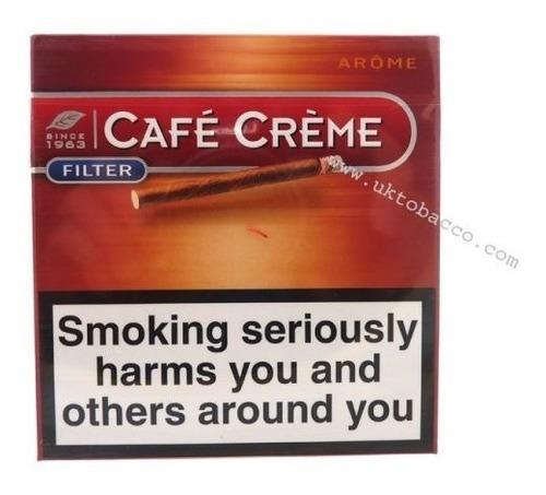 pack x50 filter arome cafe creme cigarros cigarro aroma puro