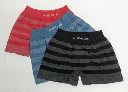 pack x6 andros boxer algodon rayado s/costura a. 5106 ts/xl