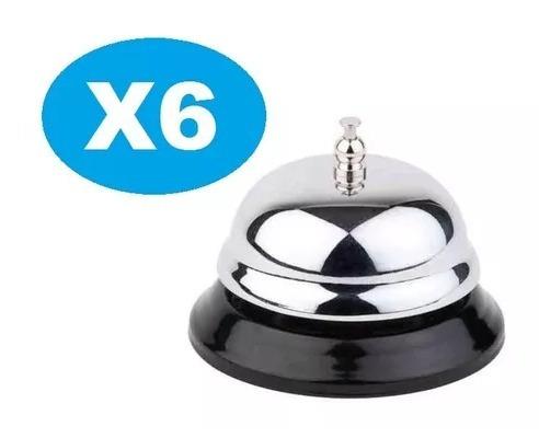 pack x6 campanilla de recepción hotel/cocina