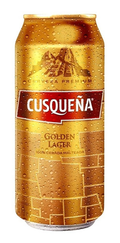 pack x6 cusqueña golden lager cerveza rubia 473 ml lata peru