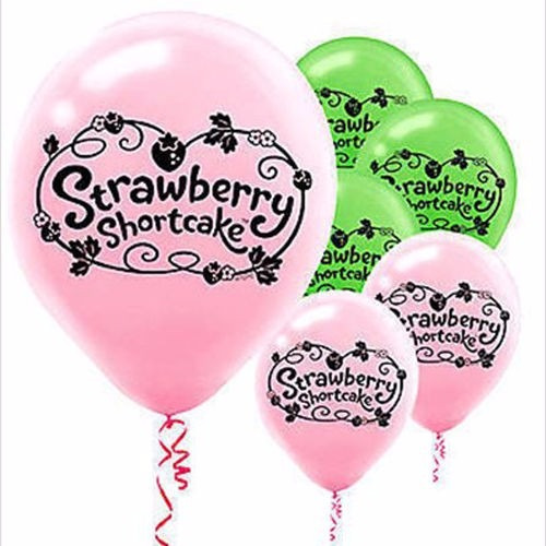 pack x6 globos látex frutillitas - cumpleaños cotillón