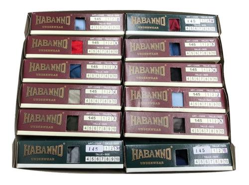 pack x6 habano slip algodon clasico liso art 145  t 1 al 6