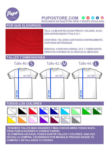 pack x6 remeras lisas adulto - algodón - todos los colores