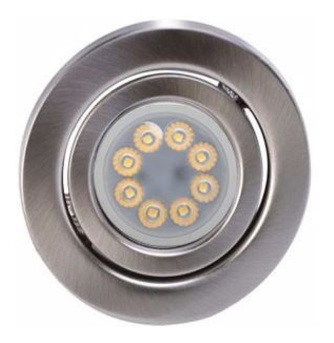 pack xpack x 2 spot redondo movil platil completos con zocalos gu10 y lamparas dicroicas led marca: candil 7w  220v