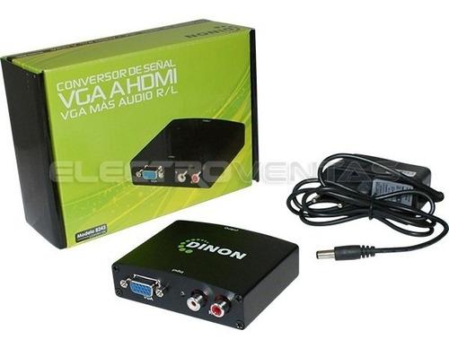 pack2 conversor adaptador de video vga+audio rca a hdmi 9344