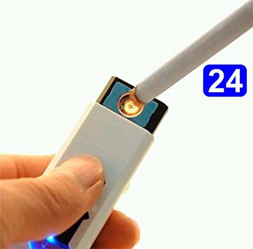 pack24 encendedor recargable usb electronico/ chinatek