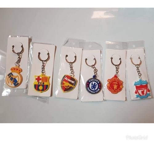 packs 12 llaveros real madrid barcelona manchester u + envio