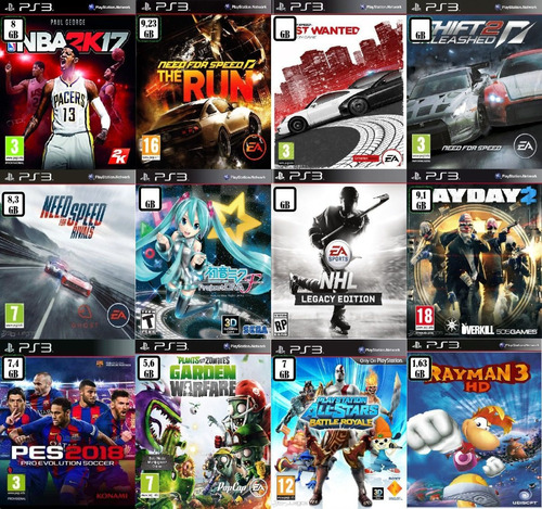 packs de 3 - 5 - 10 - 15 juegos digitales ps3 con dlcs