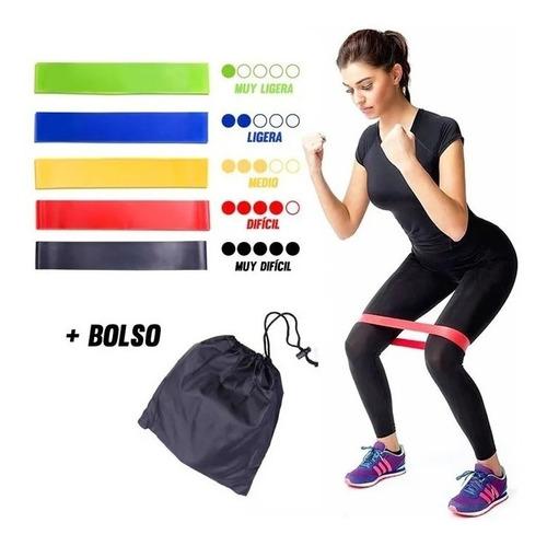 packx5 banda elestica resistencia de ejercicio entrenamiento
