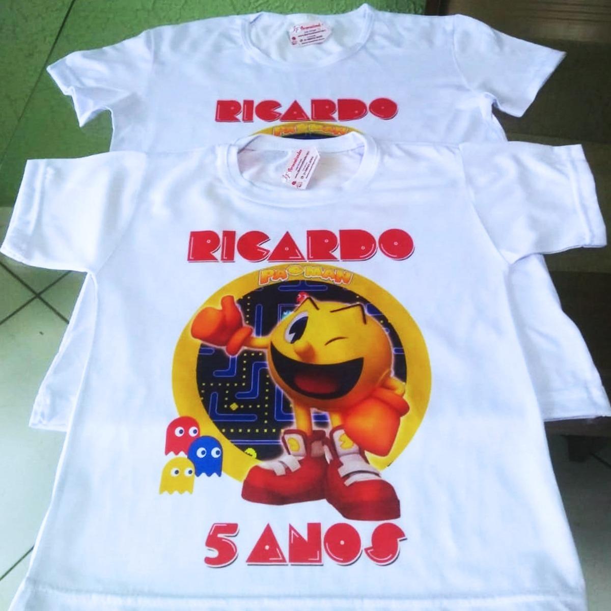 3fc4f723e pacman camiseta adulto infantil personalizada. Carregando zoom.