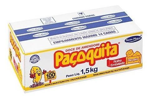 paçoca paçoquita rolha embalada caixa com 100 unidades