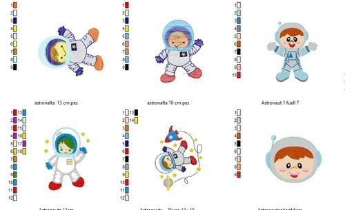 pacote 150 matrizes astronalta pes