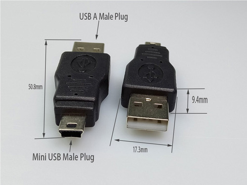 pacote 20 conectores usb a macho/mini usb 5p 30474 + frete