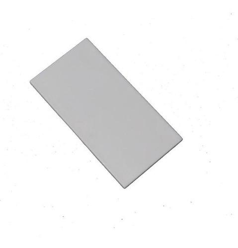 pacote 20 un tampa retangular 50 x 100 mm tubo de alumínio