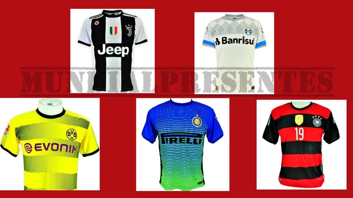 pacote 30 camisas de time futebol europeus mundialpresentes. Carregando  zoom. f0cc68b3680f3