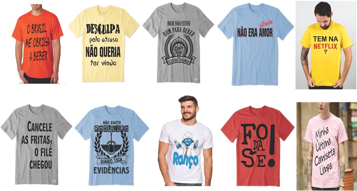 Pacote C  10 Camisetas Masculina Atacado Revenda Kit Top Ac - R  189 ... a3a70ff39d
