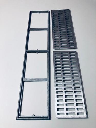 pacote c/ 10 peças ralos lineares 20x100 borda de piscina