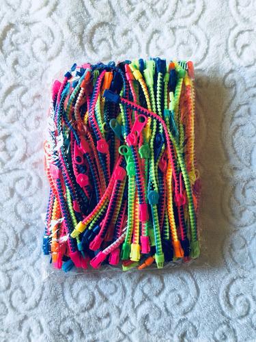 pacote c/ 100 pulseiras de zíper