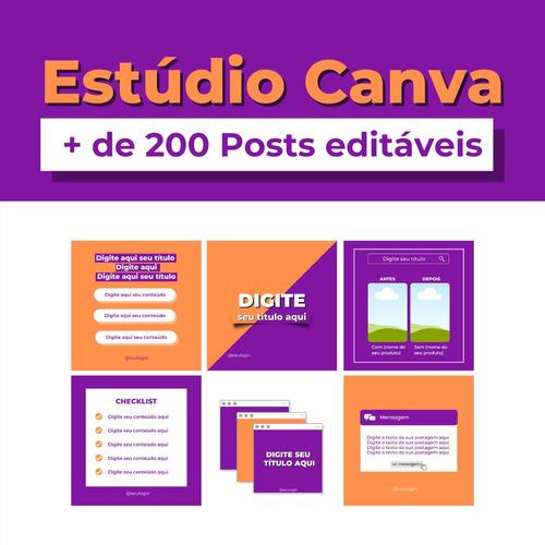 pacote canva + de 200 templates para o feed do instagram