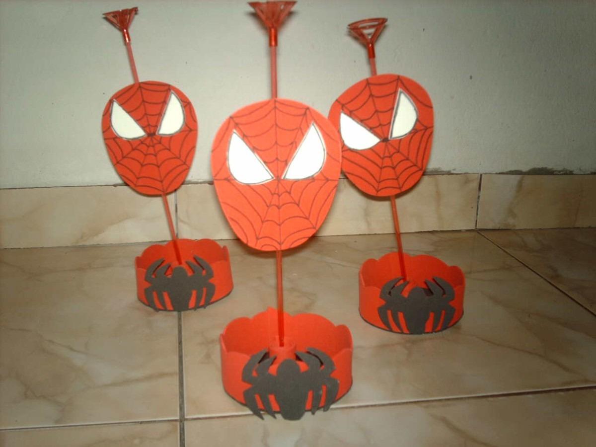 Pacote Com 10 Enfeite De Mesa Homem Aranha R$ 50,00 em Mercado Livre -> Enfeites De Mesa Do Homem Aranha