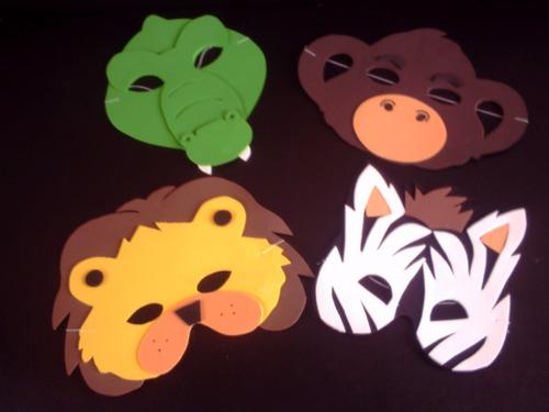 pacote com 10 mascara de bichinhos  safari