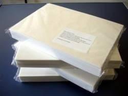 pacote com 100 un. papel arroz a4 em branco