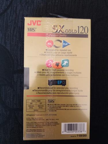 pacote com 11 fitas vhs jvc t120 gold virgem