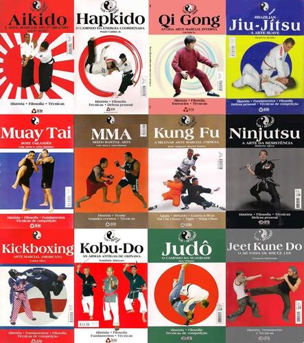 pacote com 12 livros coleção artes marciais