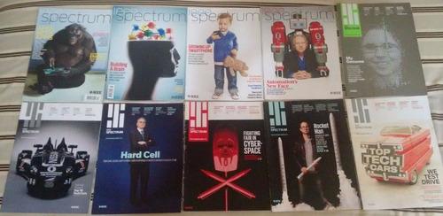 pacote com 33 revistas ieee spectrum