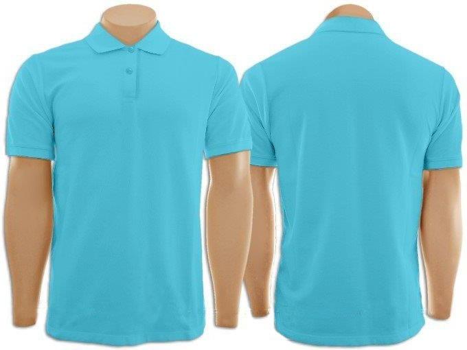 715a9b344 Pacote Com 5 Camisetas Gola Polo Azul Turquesa - R  194