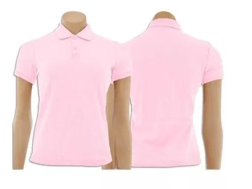 0a6031832438c Pacote Com 5 Camisetas - Gola Polo Feminino Cores Variadas - R  169 ...