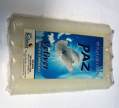 pacote com 5 velas aromatizadas - aroma de vetiver - paz