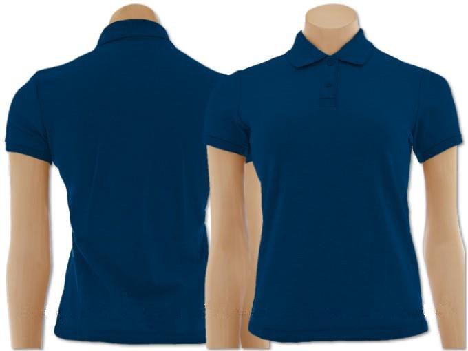 cbd77a1639dcb Pacote Com 50 Camisetas Polo Feminino Azul Marinho - R  1.488