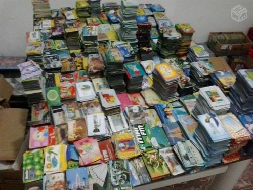 pacote com 5000 cartões telefônicos variados frete grátis