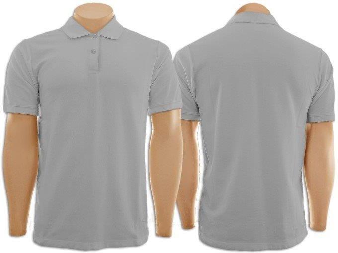 Pacote Com 6 Camisetas Polo Masculina Cinza - R  229 9f84d0b2fc685