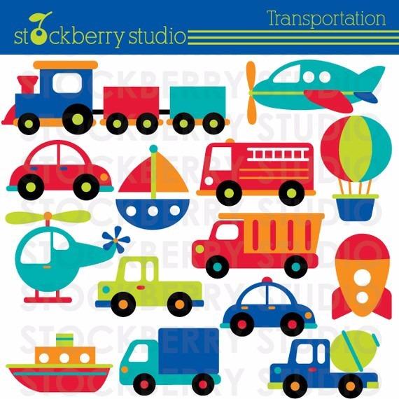 Pacote Com 7 Kits De Meio De Transporte Imagens Clipart R 14 98