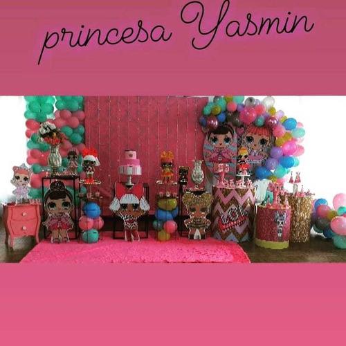 pacote com decoração completa e brinquedos