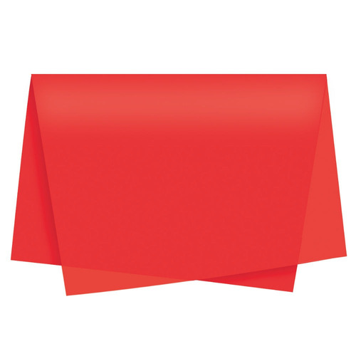 pacote de folhas de seda vermelho