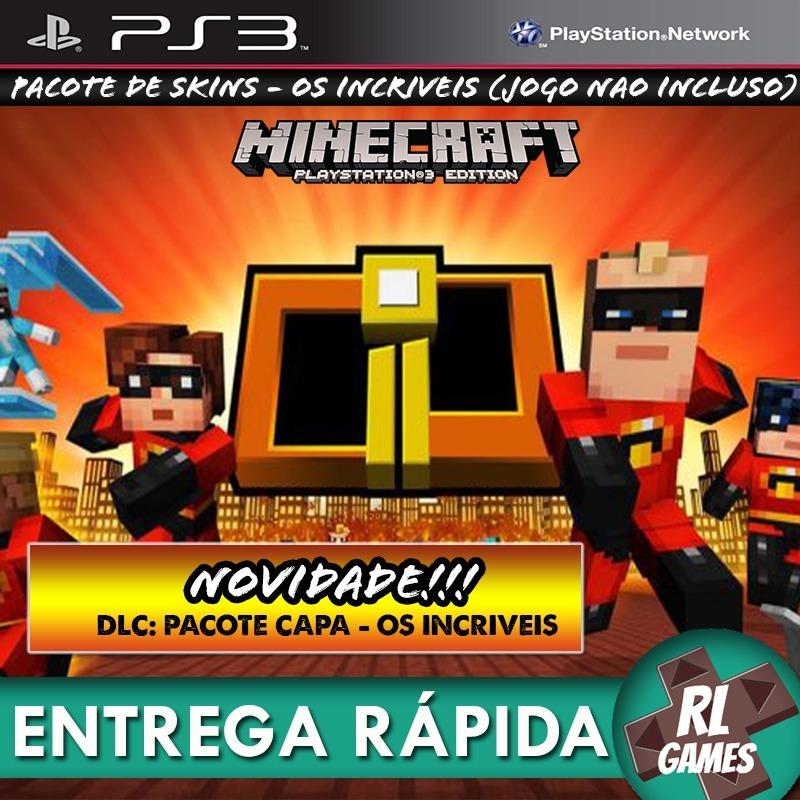 Pacote De Skins Minecraft Os Incríveis Jogos Ps Psn R Em - Skin para minecraft do zoom