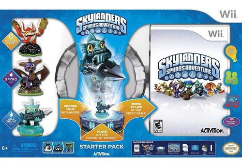 pacote inicial skylanders spyro's adventure - wii