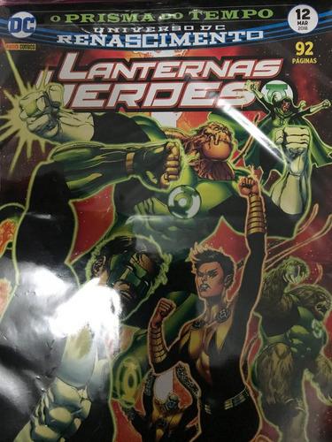 pacote lanterna verde - renascimento com 15 edições- panini