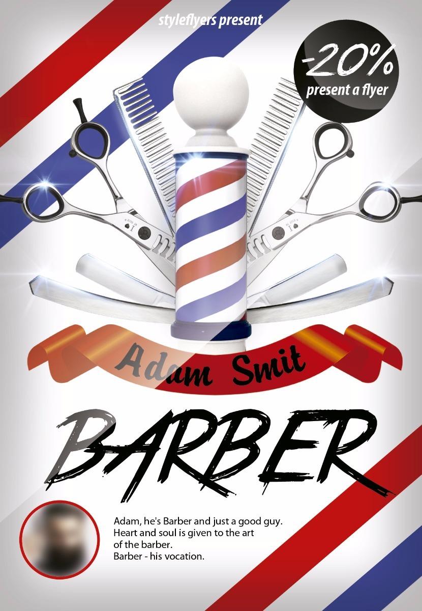 pacote logo flyer cartão de visita barbearia barber shop psd r 19