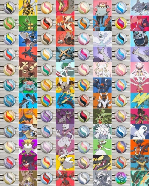 Pacote mega evolu es 48 pok mon ultra sun moon xy oras - Pokemon xy mega evolution chart ...