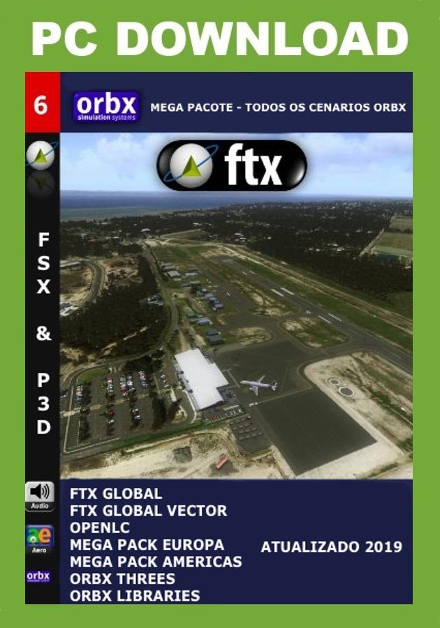 Pacote Orbx Para Fsx E Prepar3d - Todos Os Cenários