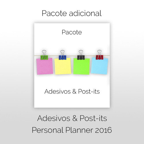 pacote post-its & adesivos - personal planner 2016