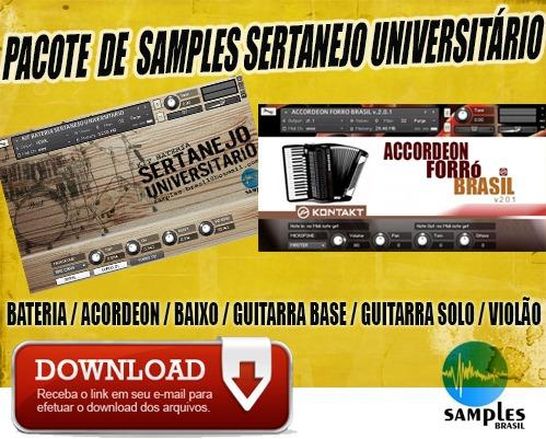 pacote samples sertanejo universitário para kontakt