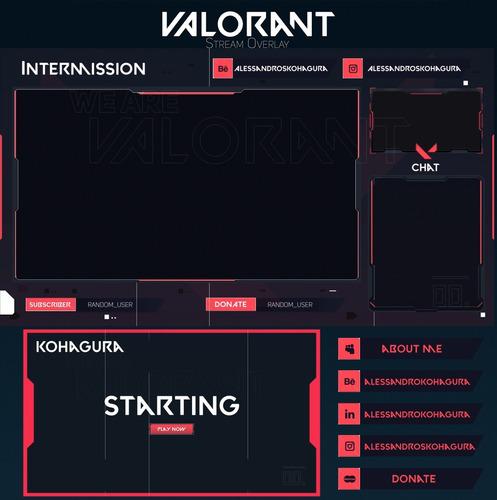 pacote stream overlay personalizado & animado p/ twtich e yt