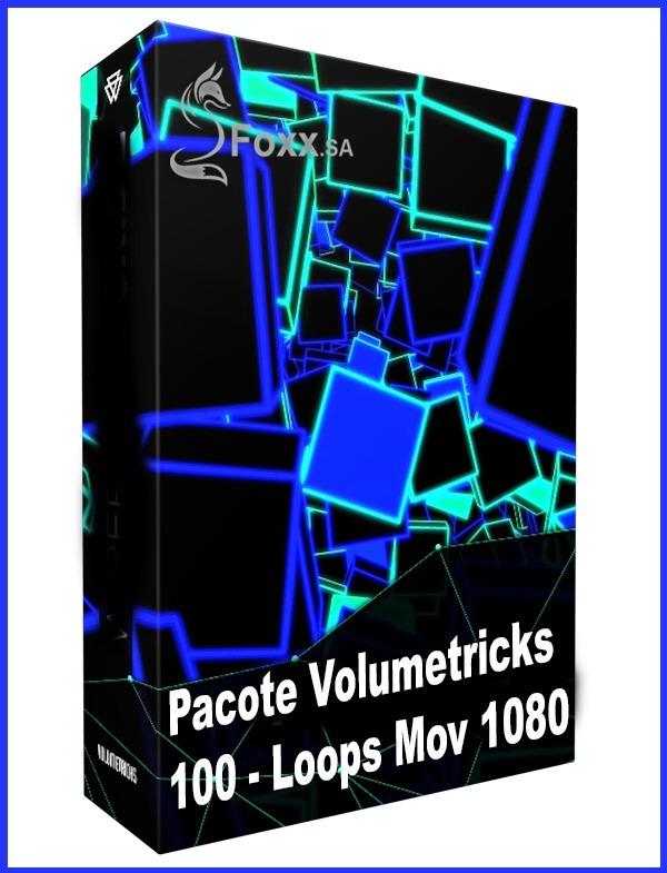 Pacote Volumetricks -100 Video Loop Imagens Top Vj Dj Telão