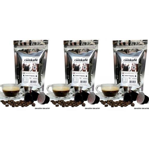 pacotes 10 cápsulas café forte chocolate e caramel nespresso