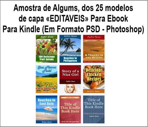 pacotes capas ebook's editáveis, para kindle da amazon, ebay